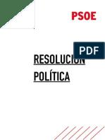 Resolución política sobre pactos postelectorales del PSOE (PDF)