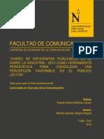 Tesis Diseño de Infografías Publicadas en El Diario La Industria Como Herramienta Periodística Para Consolidar Una Percepcion Favorable en El Público Lector
