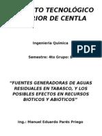 AGUAS RESIDUALES... FUENTE GENERADORAS