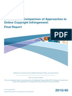 International Comparison of Approaches to Online Copyright Infringement
