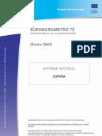 Eurobarometro. Otoño 2009