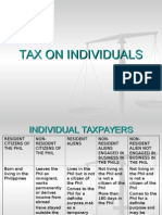 Tax on Individuals for Law Students