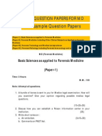 Question Papers Forensic Medicine(Pg)