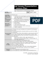 education issues lesson plan