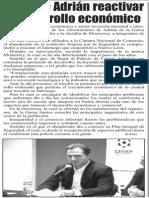 30-05-15 Promete Adrián reactivar el desarrollo económico