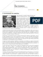 A Necessidade Do Supérfluo _ Rodrigo Constantino - VEJA