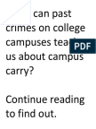 Violent Crimes on College Campuses