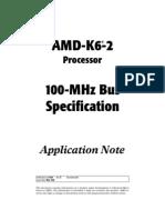 AMD 100mhz Super-7 Bus Specs