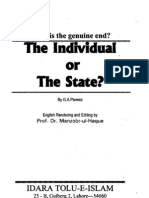 Individual or State by G A Parwez published by idara Tulu-e-islam