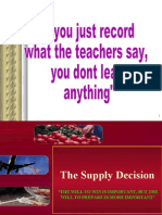 The Supply Decision