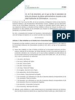 Calendario Inhábiles  Cómputo Plazos Administrativos