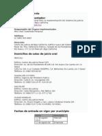 calendario de la entrada en vigor del nuevo sistema penal en Baja California