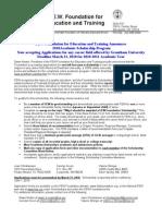 2010 FEW Found Academic Scholarship Announ App