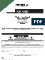 POD HD500 Quick Start Guide - English ( Rev D )
