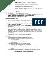 Indraprastha Intl School Instructions