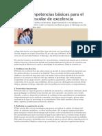 Cuatro Competencias Básicas Para El Liderazgo Escolar de Excelencia
