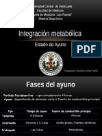 Integracion Metabolica Estado de Ayuno