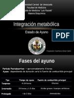 Integracion Metabolica Estado de Ayuno