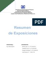 Resumen de Las Exposiciones (Yanelwis, Neyglys, Jose y Gilmar)