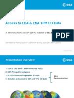 Access ESA EOdata