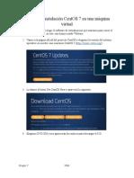 Manual de Intalación CentOS 7 en Una Máquina Virtual G7