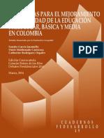 Diagnóstico de La Situación Actual de La Educación en Colombia