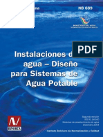 Norma Boliviana 689 de AguaPotable