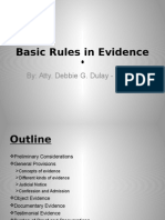Basic Rules in Evidence