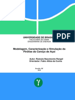 Modelagem, Caracterização e Similação da Pirólise do Caroço de Açaí
