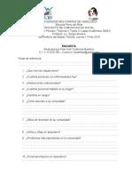 Modelo de encuesta - Diagnóstico social participativo