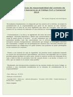 Cláusulas Limitativas de Responsabilidad Del Contrato de Caja de Seguridad Bancaria en El Código Civil y Comercial 2014