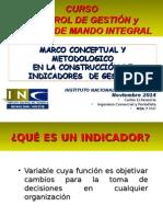 Clase 5 Marco Metodologico Para Construccion Indicadores de Desempeño Del Curso Control Gestion y Cuadro Mando INE