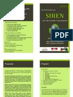 SIREN2015 Flyer