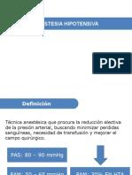 Hipotensión Deliberada