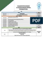 Programação Geral XV Colóquio de Iniciação Científica