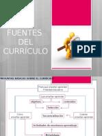 Las fuentes del currículo