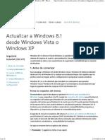 Actualiza a Windows 8.1 Desde Windows Vista o Windows XP - Microsoft Windows