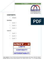 Limit Contion Differ