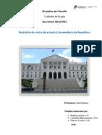 Trabalho Sobre o Parlamento Realizado Pelos Alunos Patrícia Cunha,Leonardo Mascarenhas e Beatriz Laranjo Do 10º D