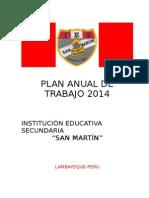 Plan Anual de Trabajo 2014 Real