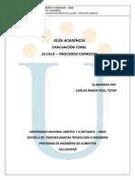 Guia Eval Final. 211614 - Procesos Carnicos