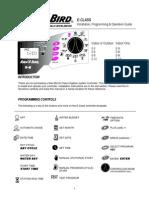 Rain Bird E Class Controller Owners Manual