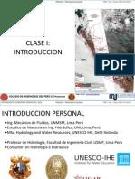 01 Clase I Introduccion a la Hidrologìa
