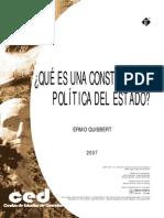 Que Es Una Constitucion Politica Del Estado