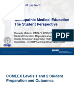 COMLEX Prep & Outcomes Report COSGP