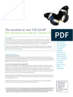 Transition to New UK GAAP - Key Decisions