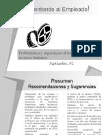 Resumen, Recomendaciones y Sugerencias