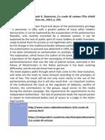 Book presentation on Parliamentary privilege