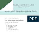 Informe de laboratorio quimica general Materiales ,Instrumentos y Equipos de Laboratorio