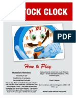 Ticktock Clock Telling Time Dice Game